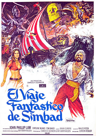 Golden Voyage of Sinbad Spain poster